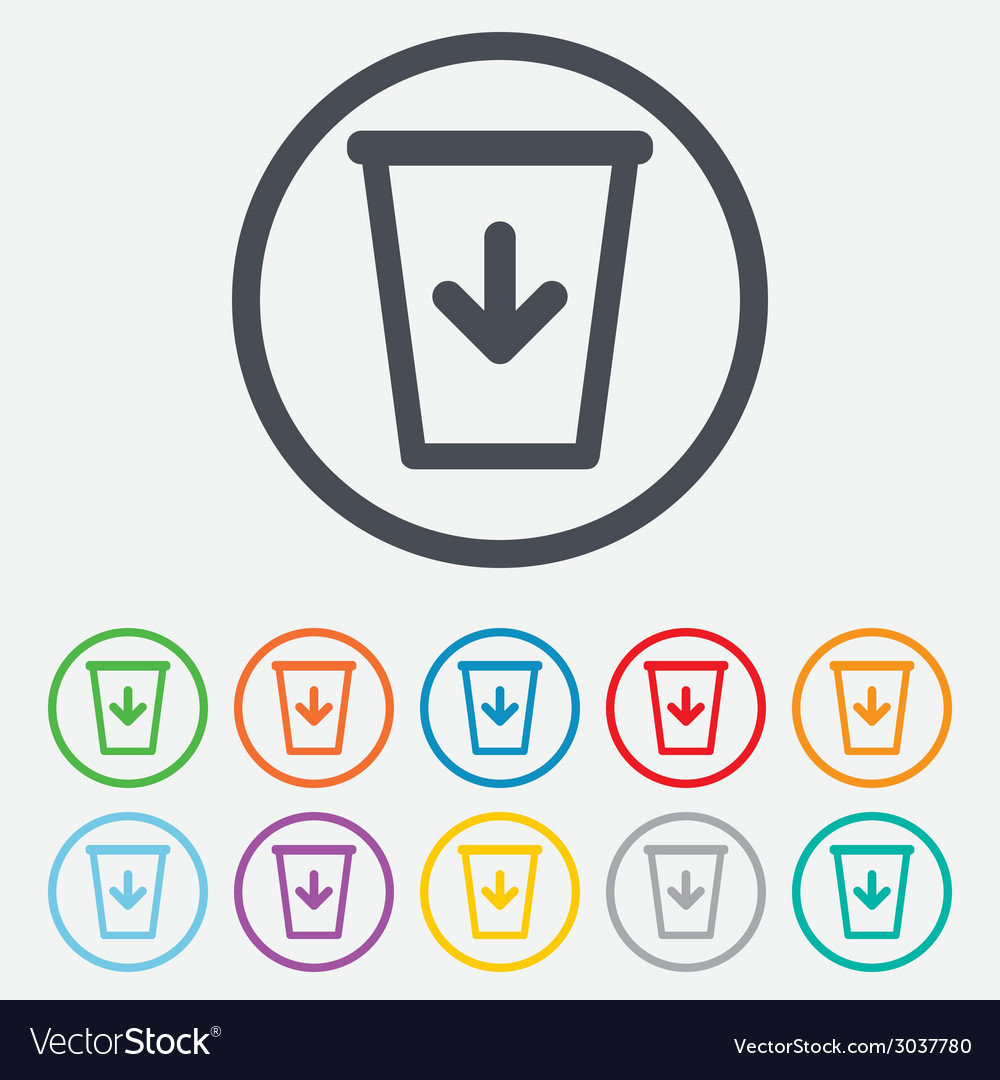 Send to the trash icon recycle bin sign vector | Price: 1 Credit (USD $1)