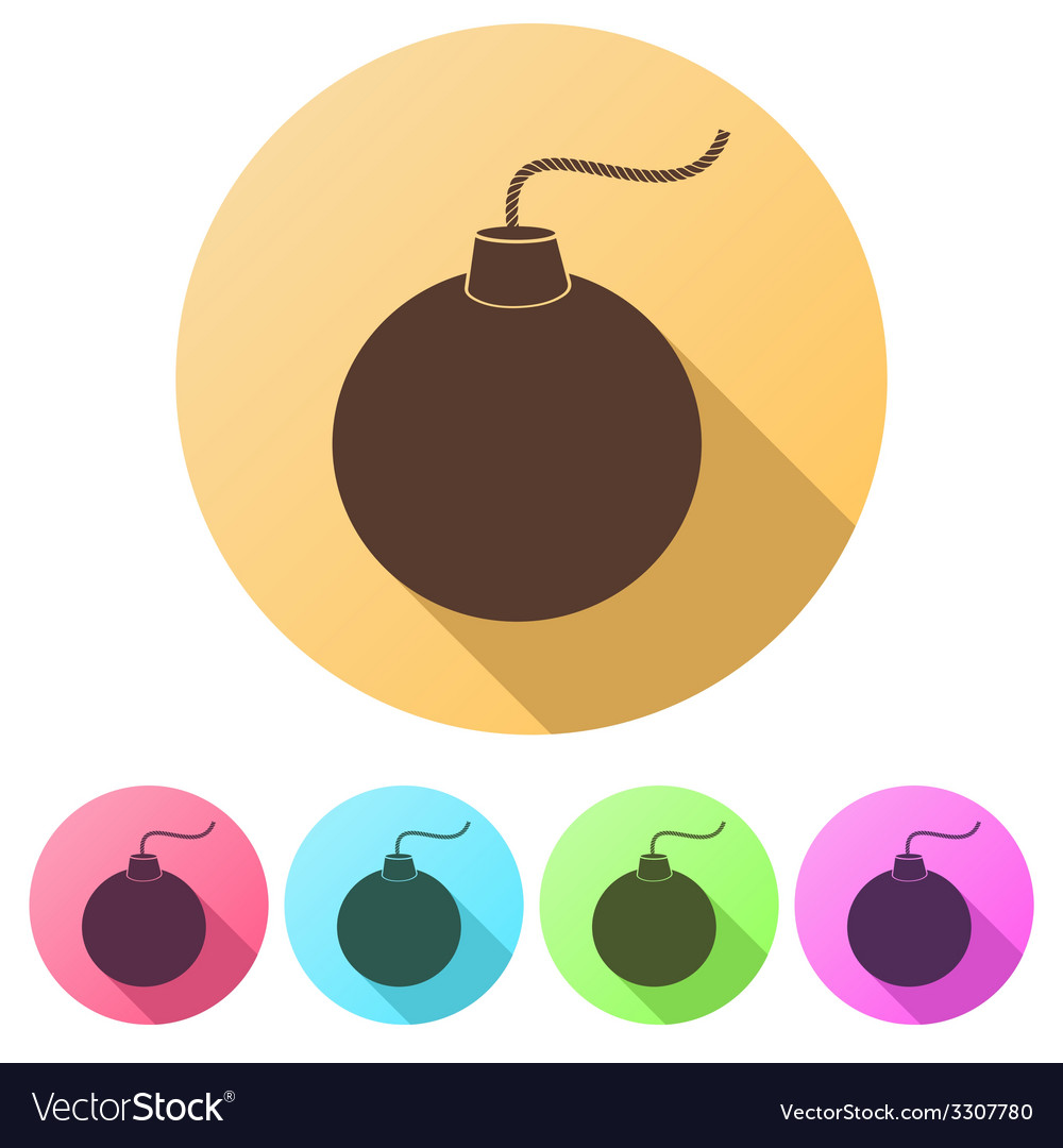 Set flat icons of bomb vector | Price: 1 Credit (USD $1)