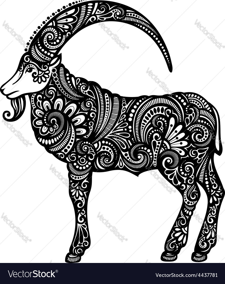 Artistic goat design vector | Price: 1 Credit (USD $1)