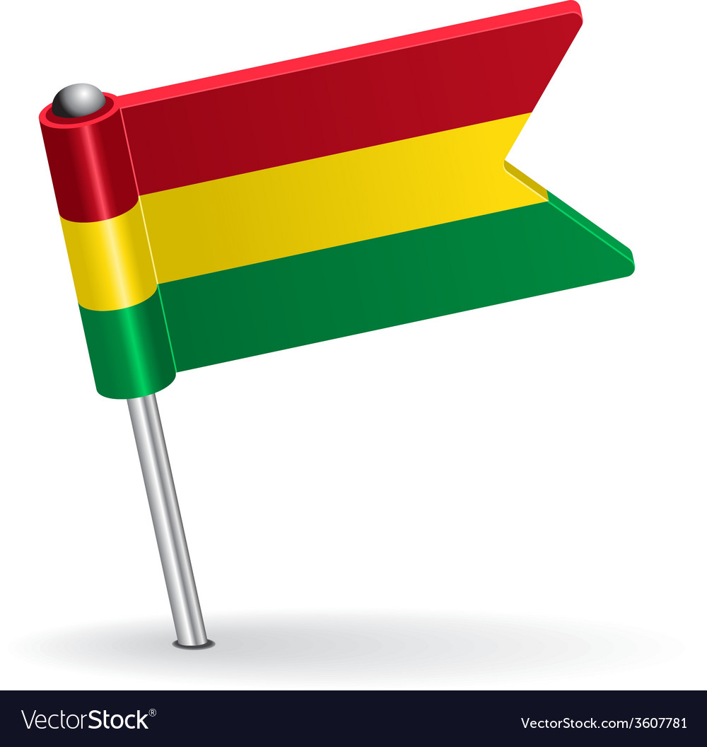 Bolivian pin icon flag vector | Price: 1 Credit (USD $1)