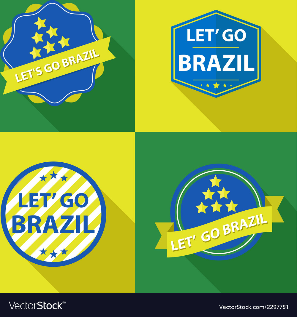 Brazil ribbons and labels vector | Price: 1 Credit (USD $1)