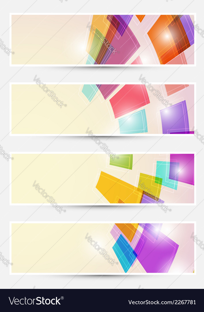 Bright square fly cards collections vector | Price: 1 Credit (USD $1)