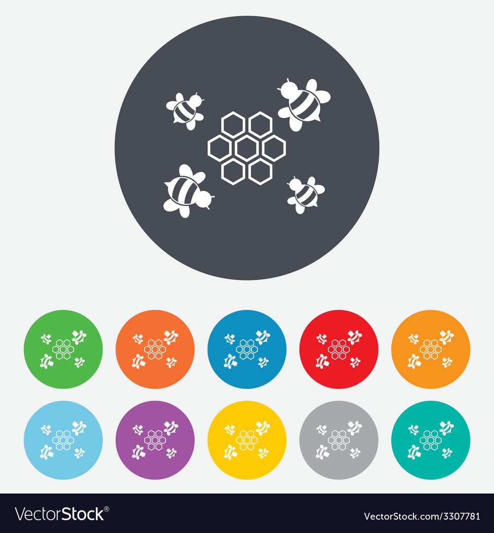 Honeycomb sign icon honey cells symbol vector | Price: 1 Credit (USD $1)