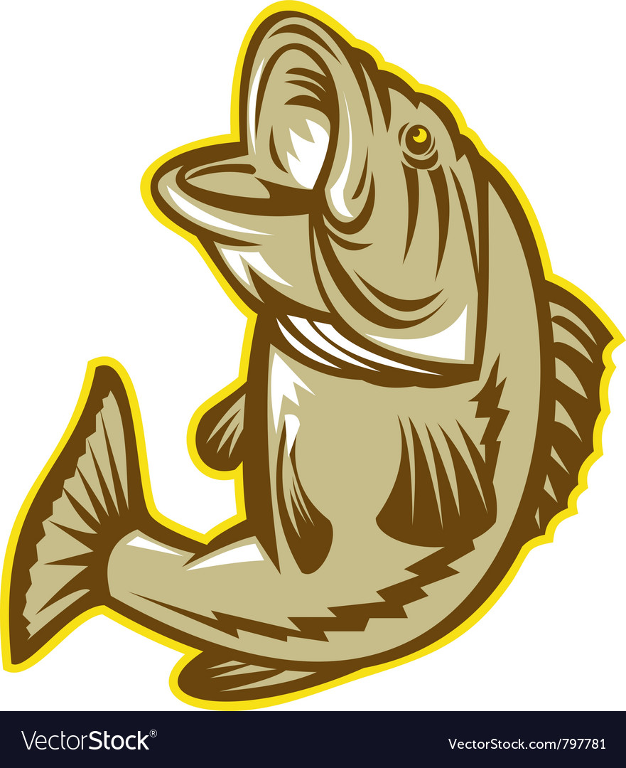 Largemouth bass fish vector | Price: 3 Credit (USD $3)
