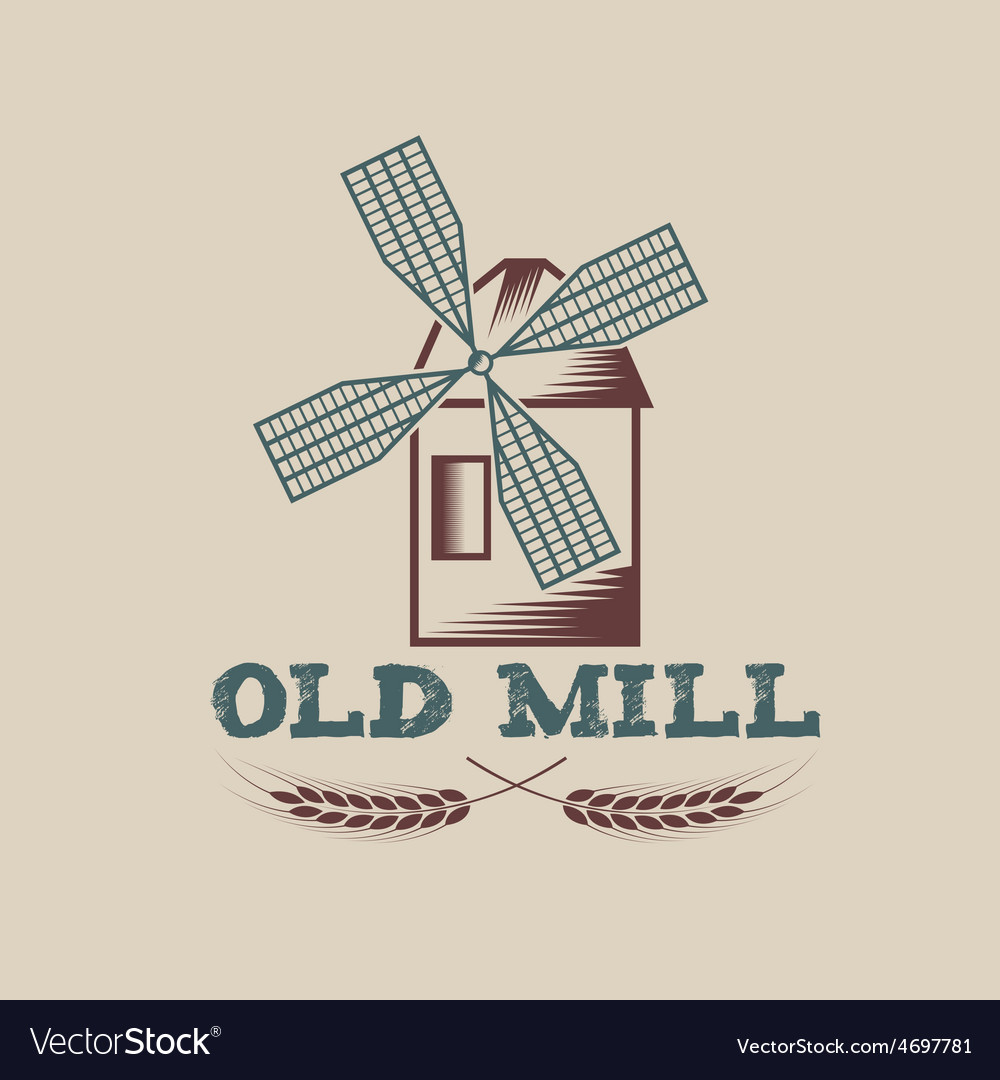 Old mill design template vector | Price: 1 Credit (USD $1)