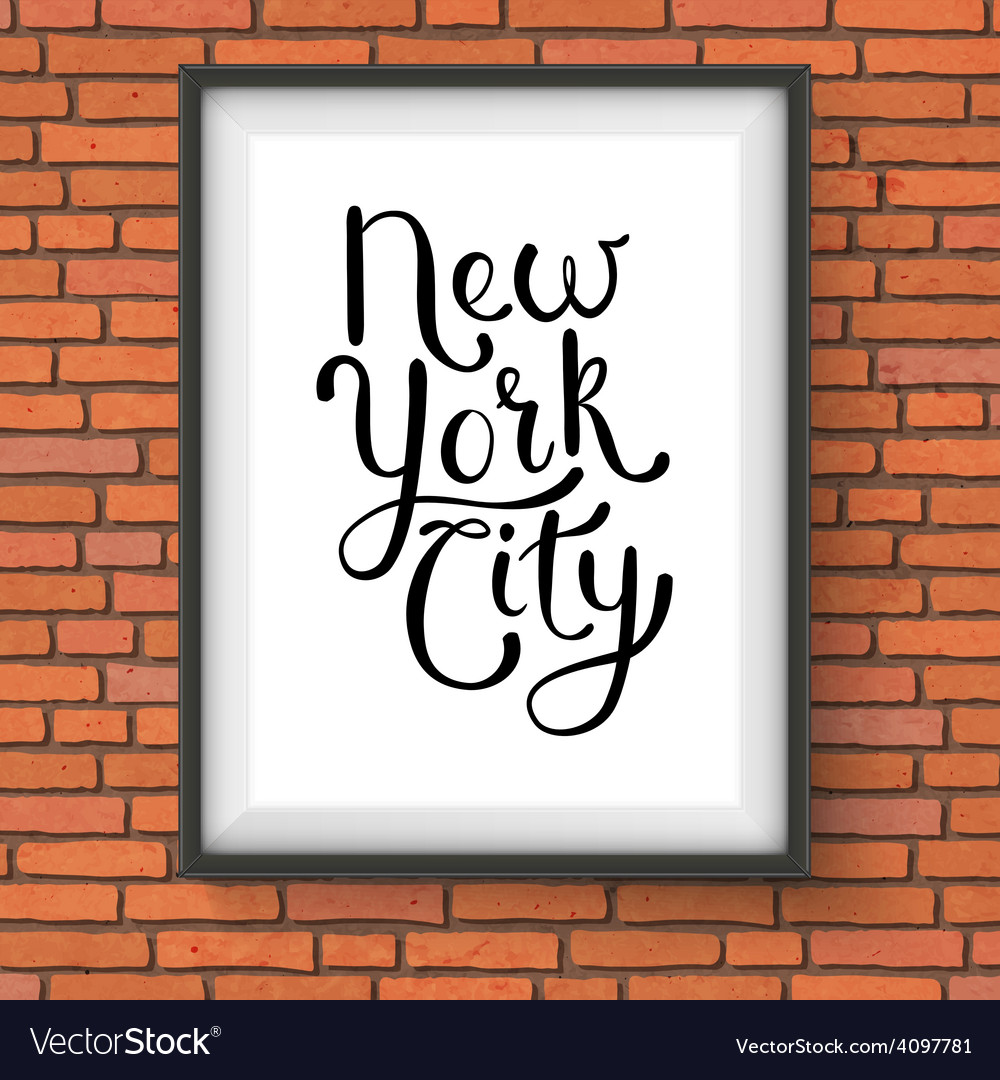 Simple new york city concept on a hanging frame vector | Price: 1 Credit (USD $1)