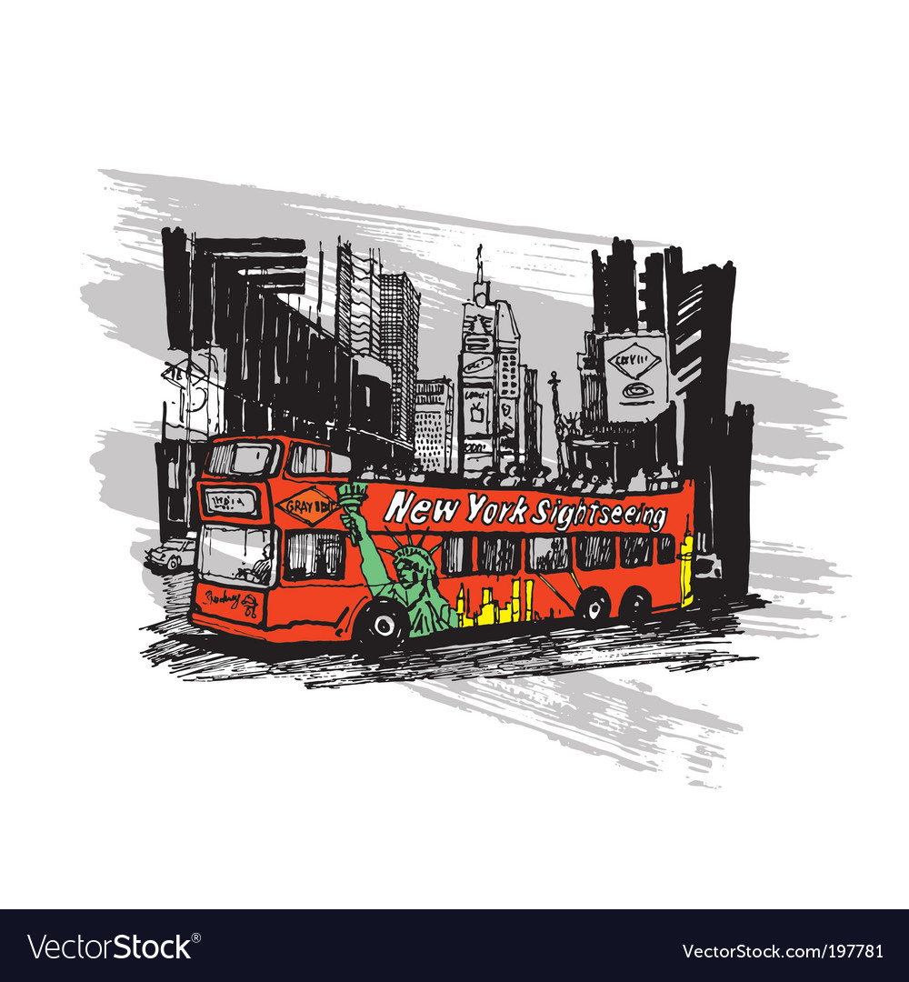 Tourist bus vector | Price: 3 Credit (USD $3)