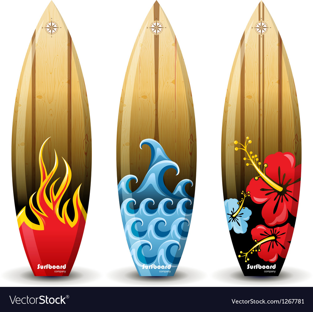 Wooden surf boards vector | Price: 3 Credit (USD $3)
