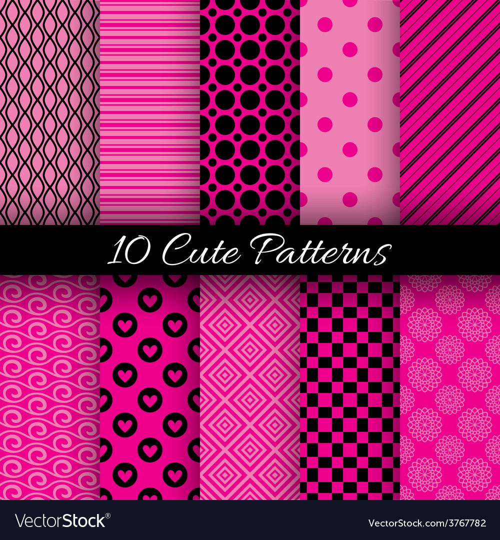 Cute abstract geometric bright seamless patterns vector