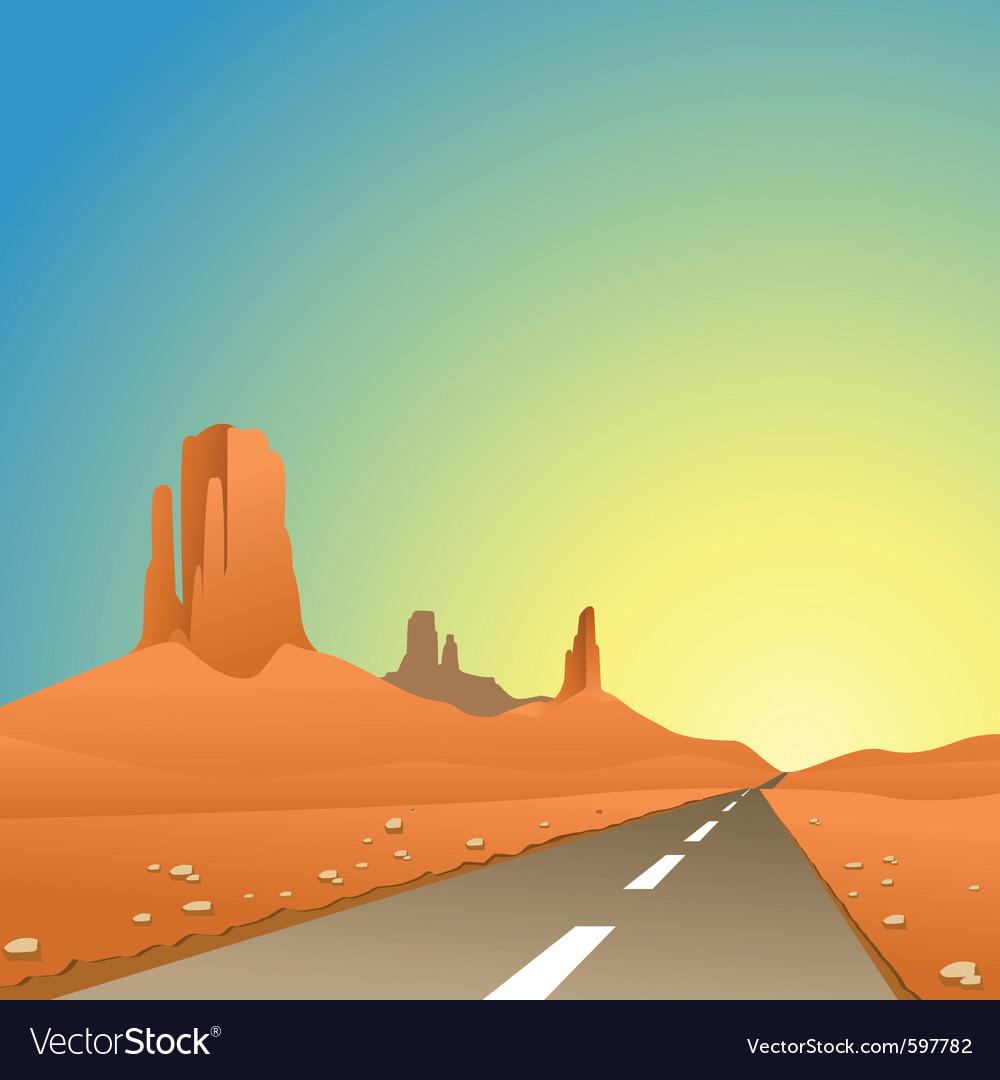 Desert landscape vector | Price: 3 Credit (USD $3)