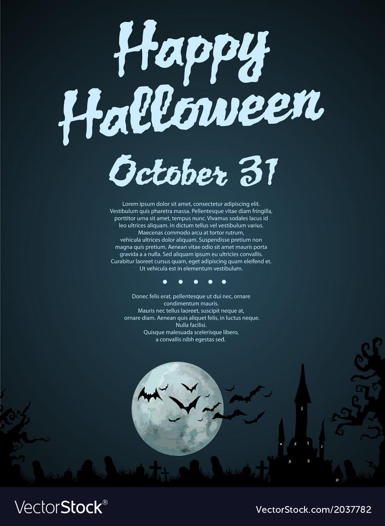 Halloween card design vector   Price: 1 Credit (USD $1)
