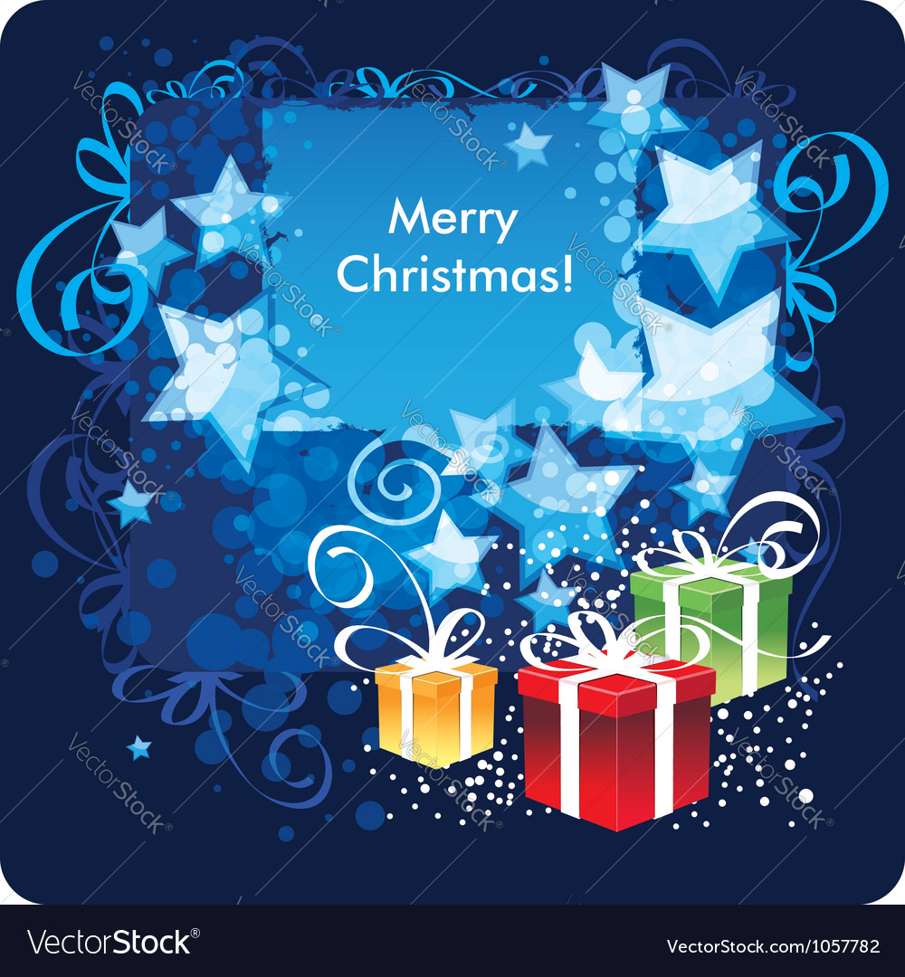 Merry christmas greetings card vector | Price: 1 Credit (USD $1)