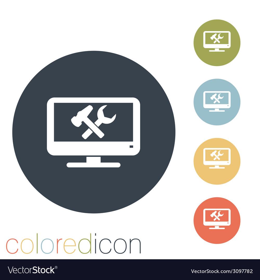 Monitor symbol settings vector | Price: 1 Credit (USD $1)