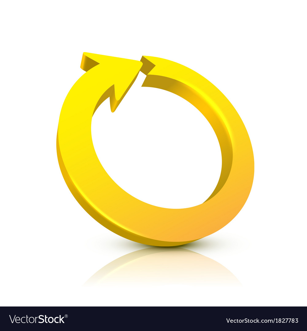 Circular arrow 3d vector | Price: 1 Credit (USD $1)