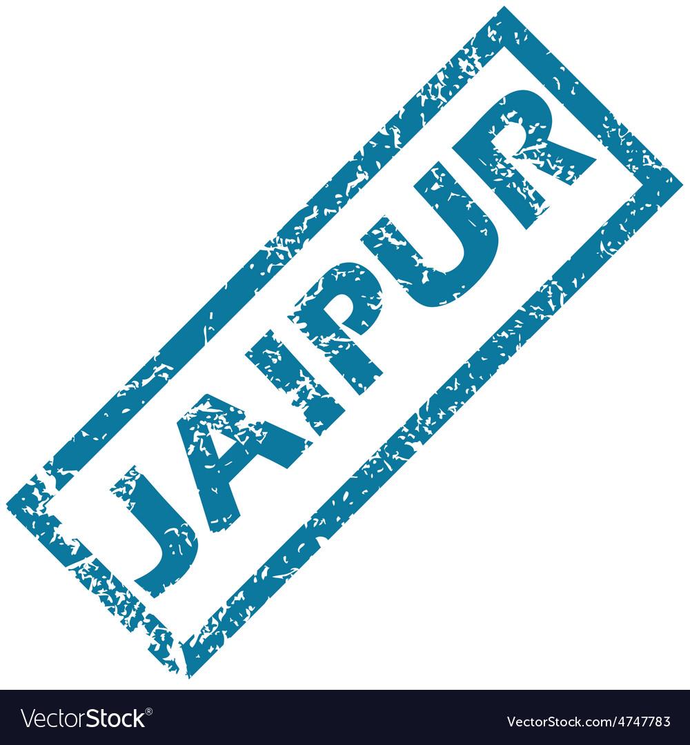 Jaipur rubber stamp vector | Price: 1 Credit (USD $1)