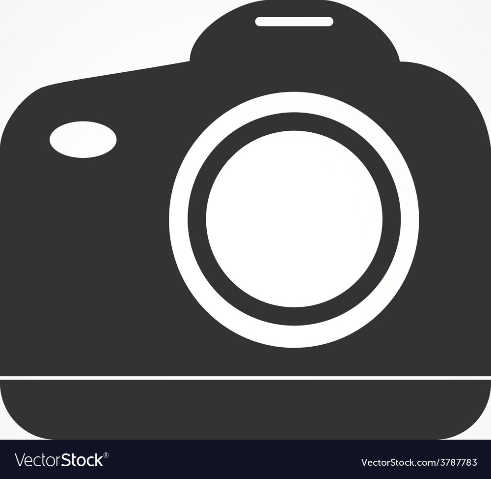 Reflex camera icon flat design vector | Price: 1 Credit (USD $1)