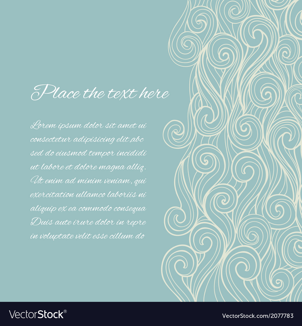 Sea wave background with copyspace vector | Price: 1 Credit (USD $1)