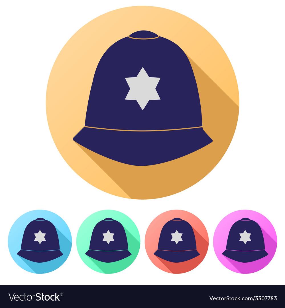 Set flat icons of helmet metropolitan british vector   Price: 1 Credit (USD $1)