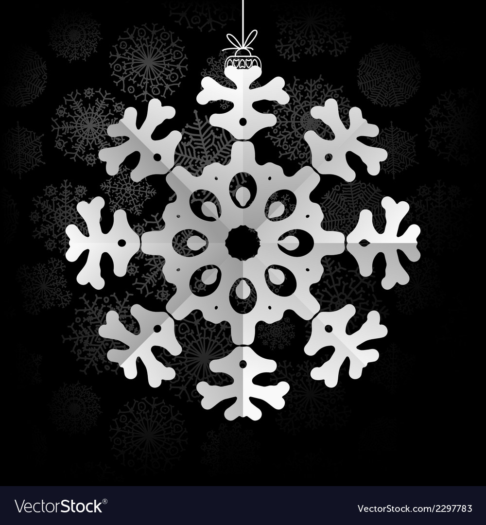 Snowflakes background with space for text  eps8 vector | Price: 1 Credit (USD $1)