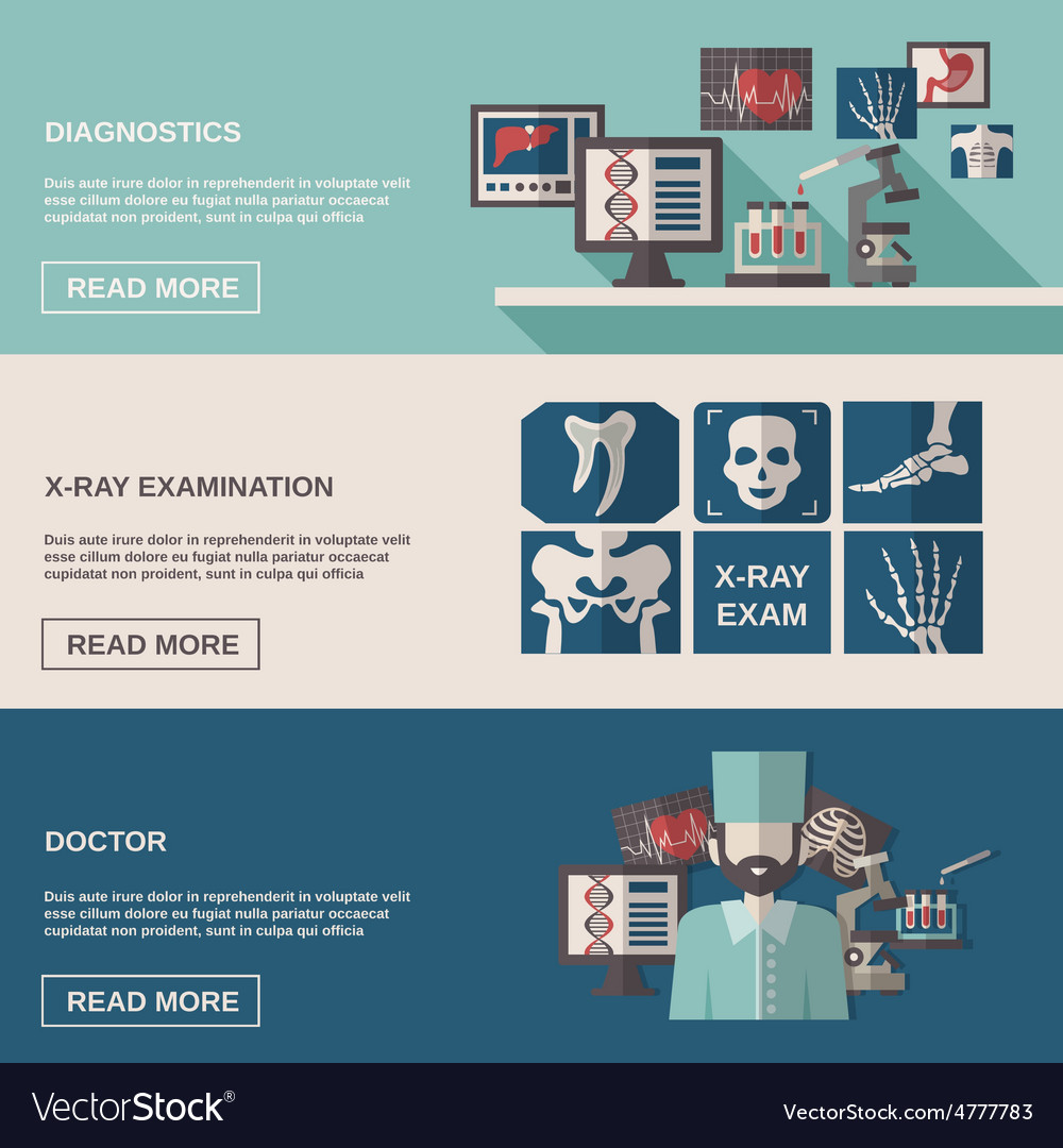 Ultrasound and x-ray banner set vector | Price: 3 Credit (USD $3)