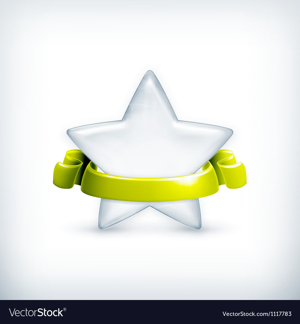 White star award vector | Price: 1 Credit (USD $1)