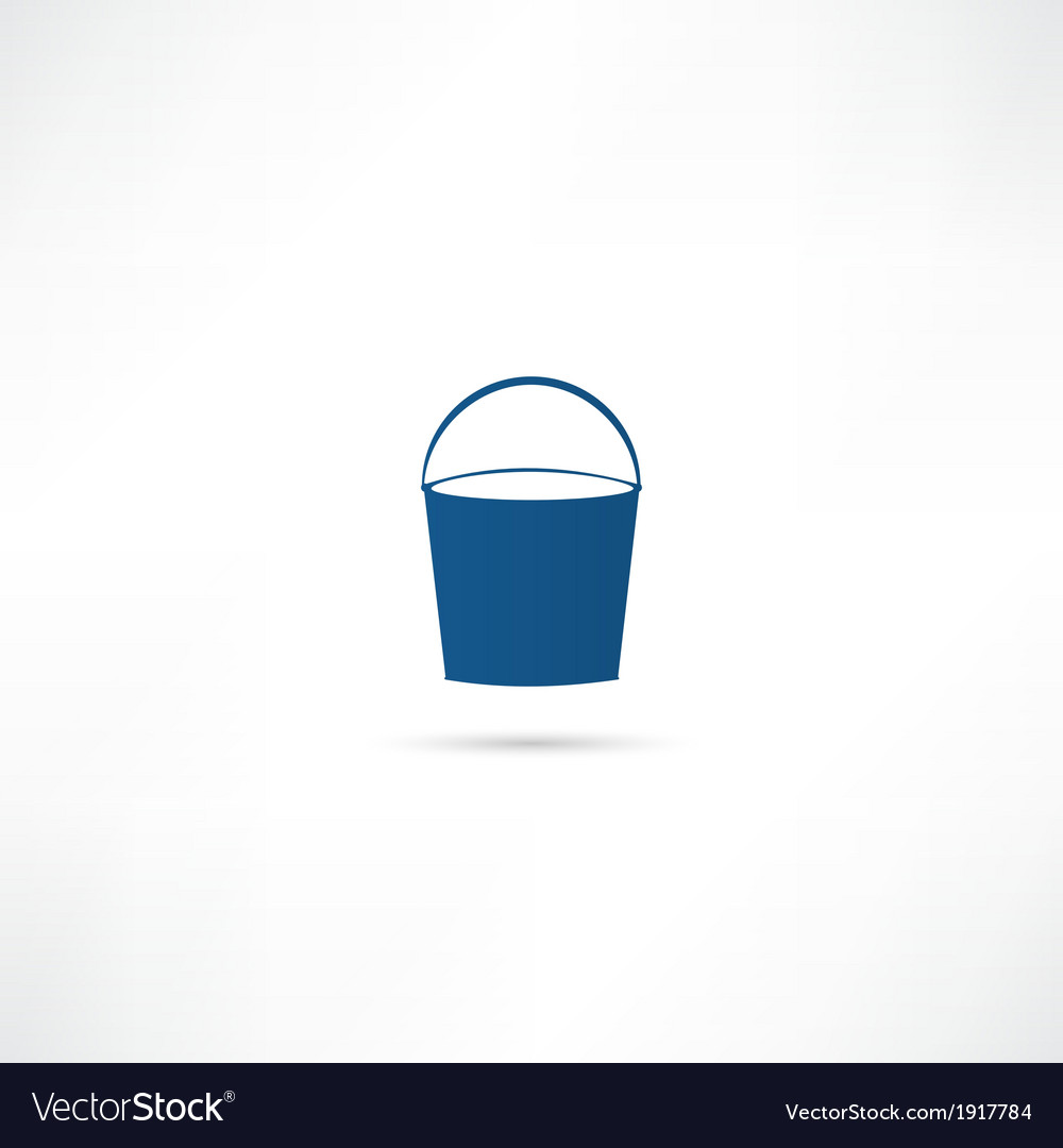 Bucket icon vector | Price: 1 Credit (USD $1)
