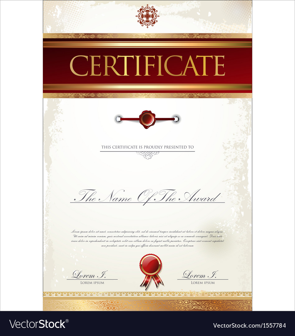 Certificate template vector | Price: 1 Credit (USD $1)