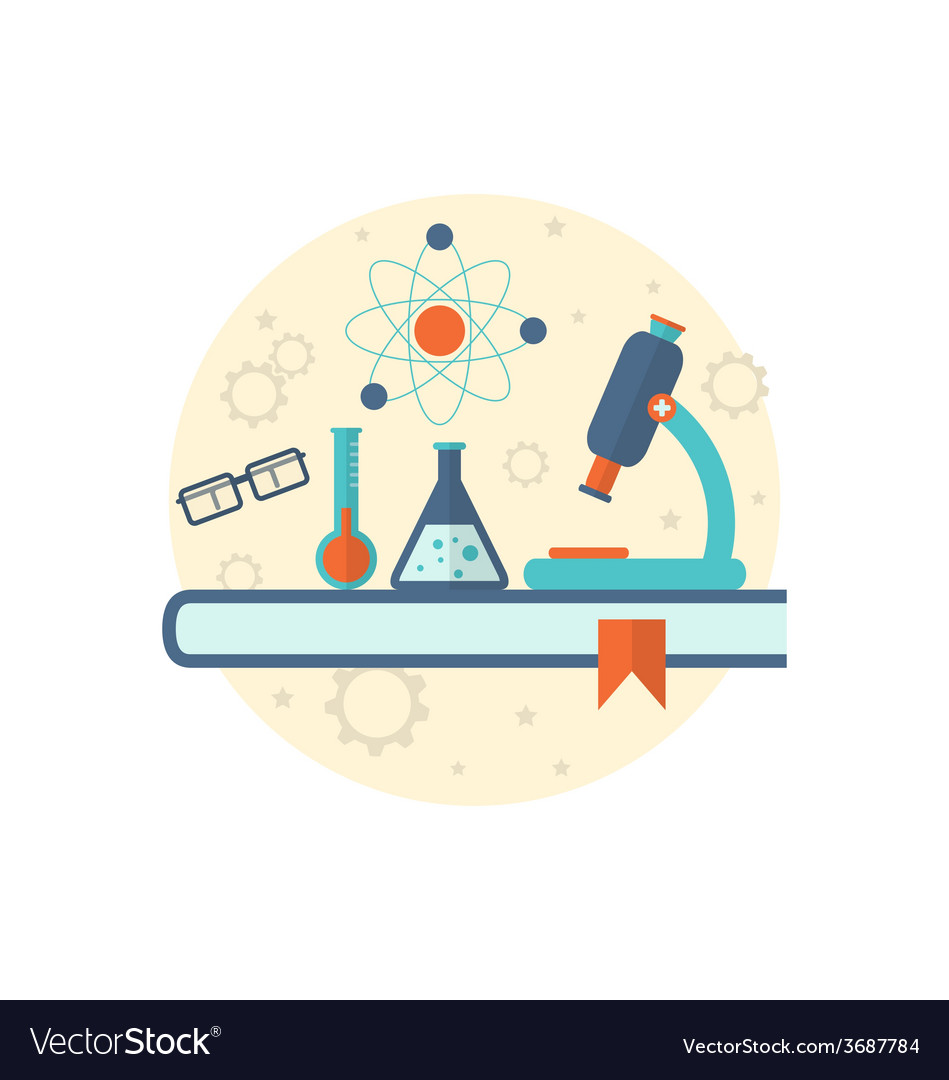Chemical engineering background with flat icon of vector   Price: 1 Credit (USD $1)