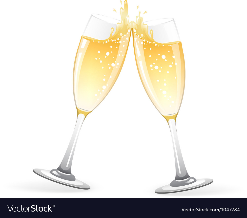 Glasses of champagne vector | Price: 1 Credit (USD $1)
