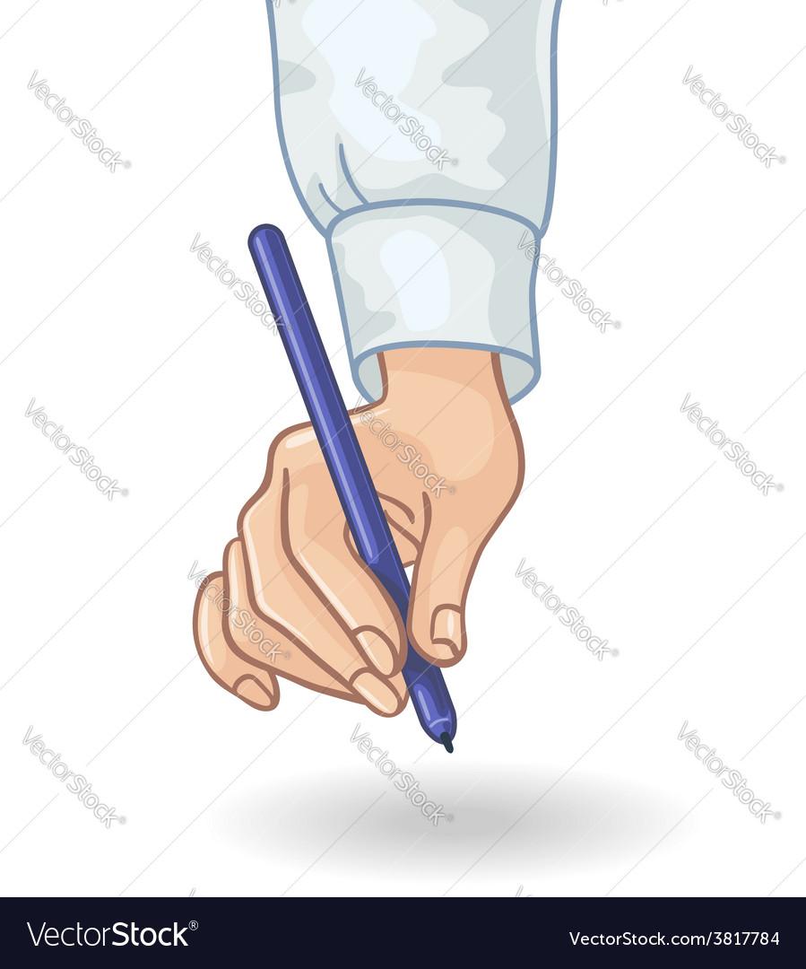 Hand pen vector   Price: 1 Credit (USD $1)