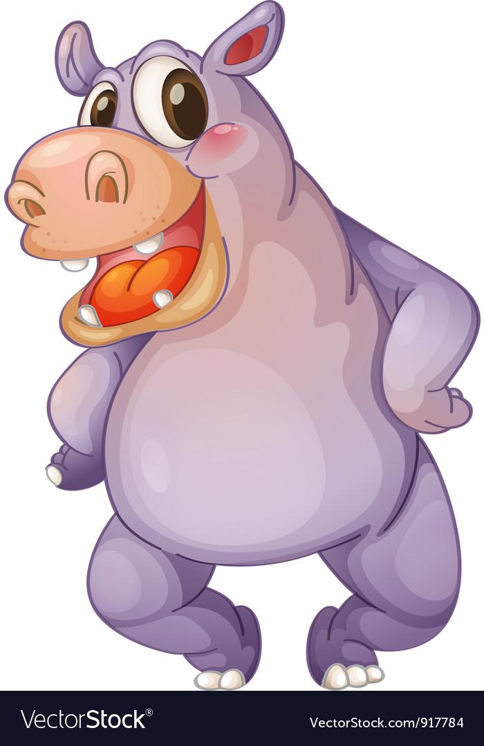 Hip hippo vector | Price: 3 Credit (USD $3)