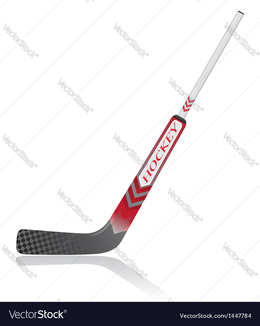 Hockey stick for goalie vector | Price: 1 Credit (USD $1)