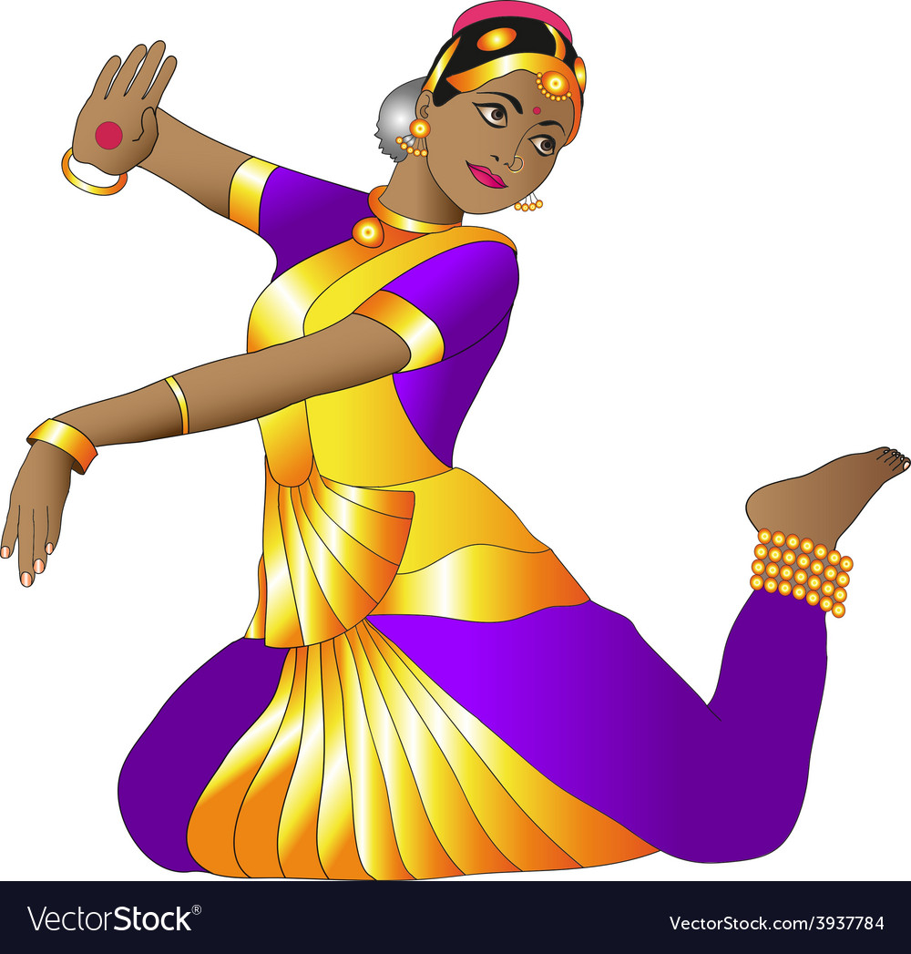 Indian dancer vector | Price: 1 Credit (USD $1)