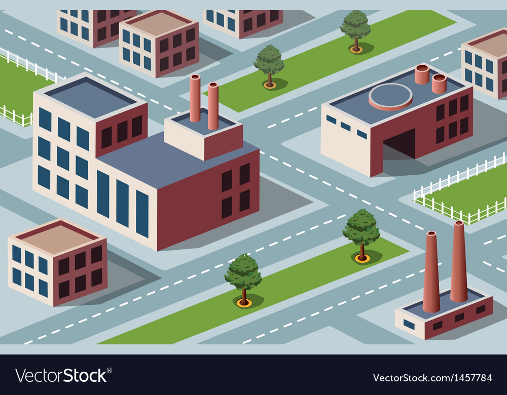 Industrial district vector | Price: 1 Credit (USD $1)