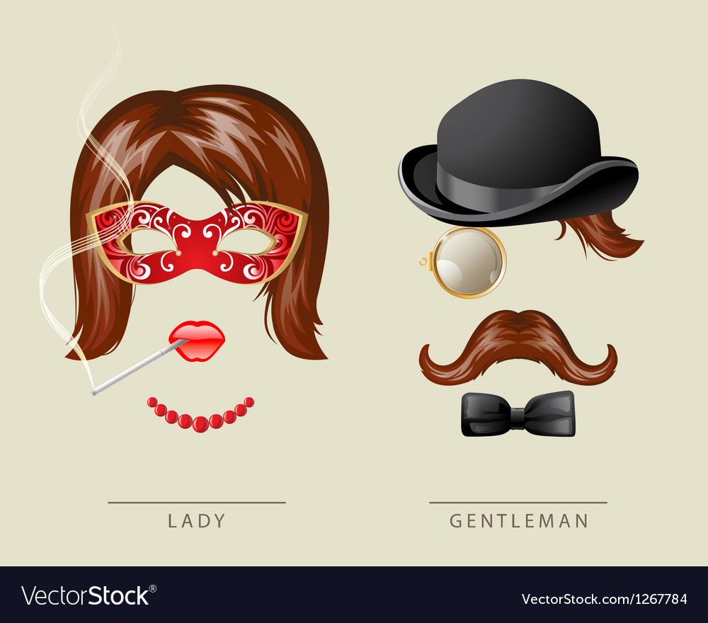 Lady and gentleman costume vector | Price: 3 Credit (USD $3)