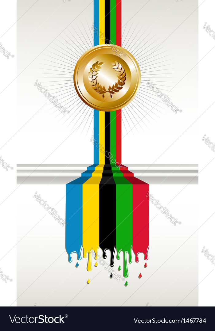Olympic games gold medal banner vector | Price: 1 Credit (USD $1)