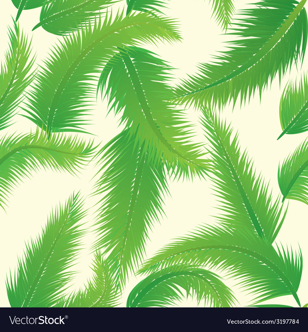 Palm leaf pattern vector | Price: 1 Credit (USD $1)