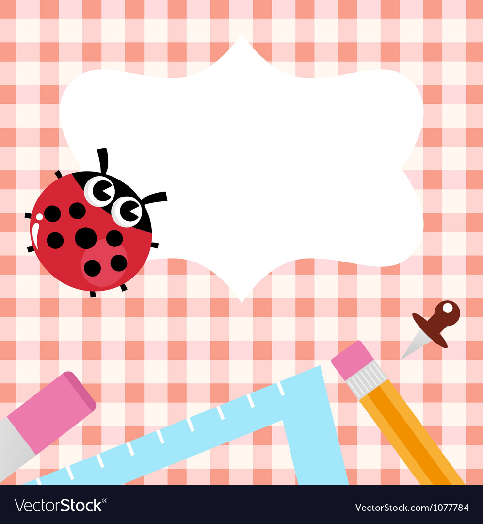 School design with ladybug vector | Price: 1 Credit (USD $1)