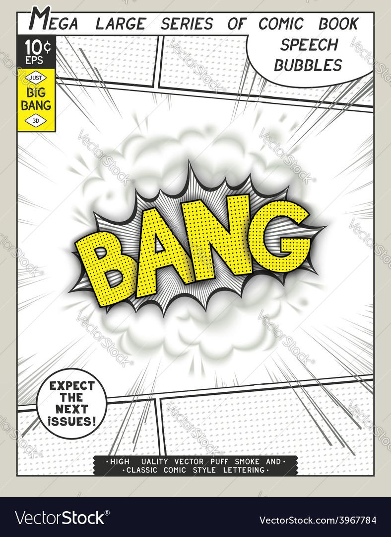 Series comics speech bubble vector | Price: 1 Credit (USD $1)