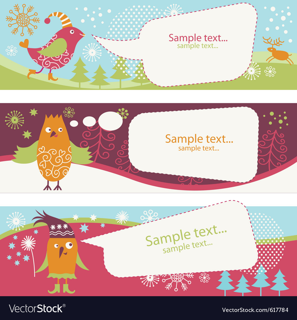 Set of holiday banners vector | Price: 1 Credit (USD $1)