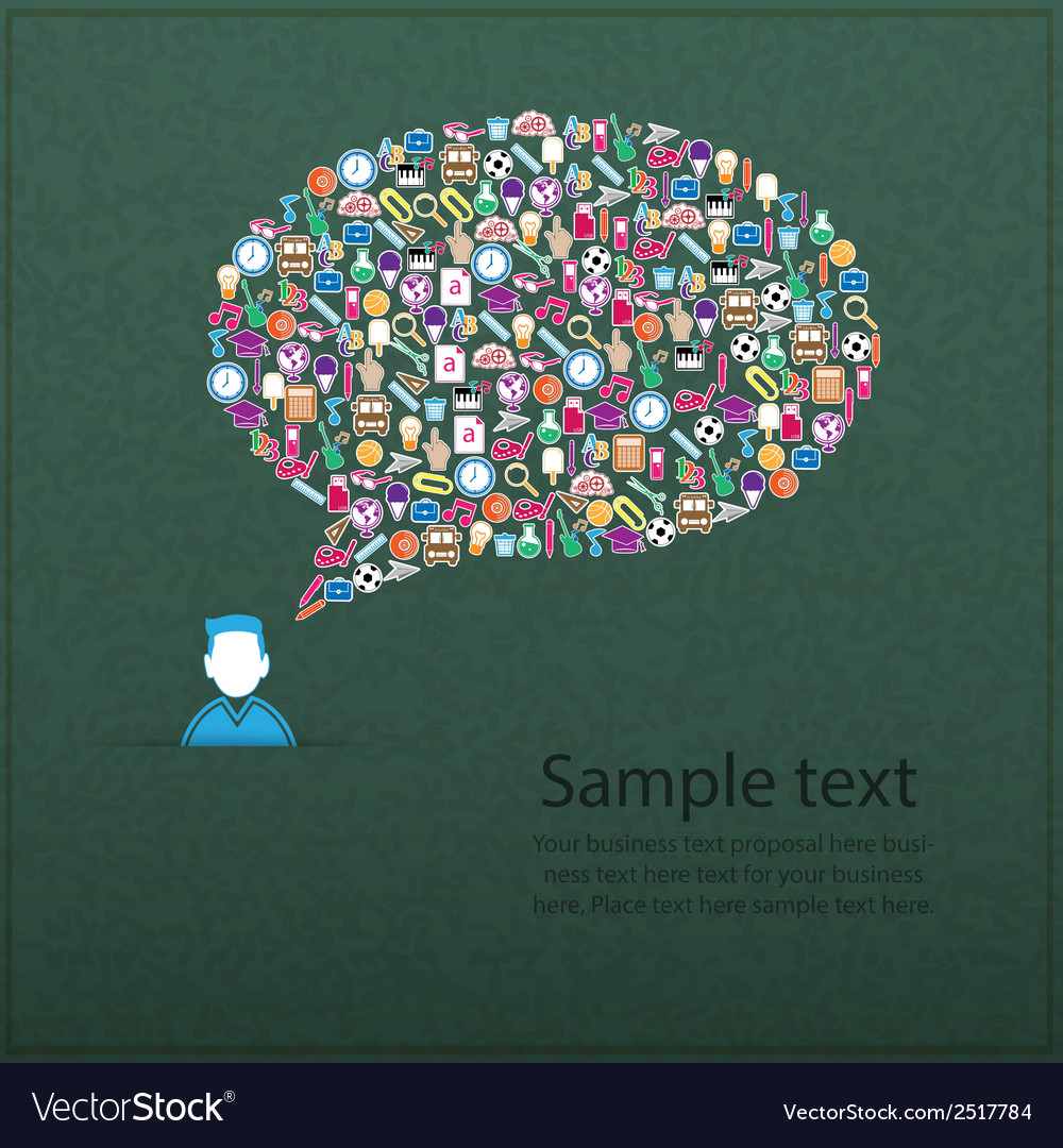 Template design user idea with back to school vector | Price: 1 Credit (USD $1)