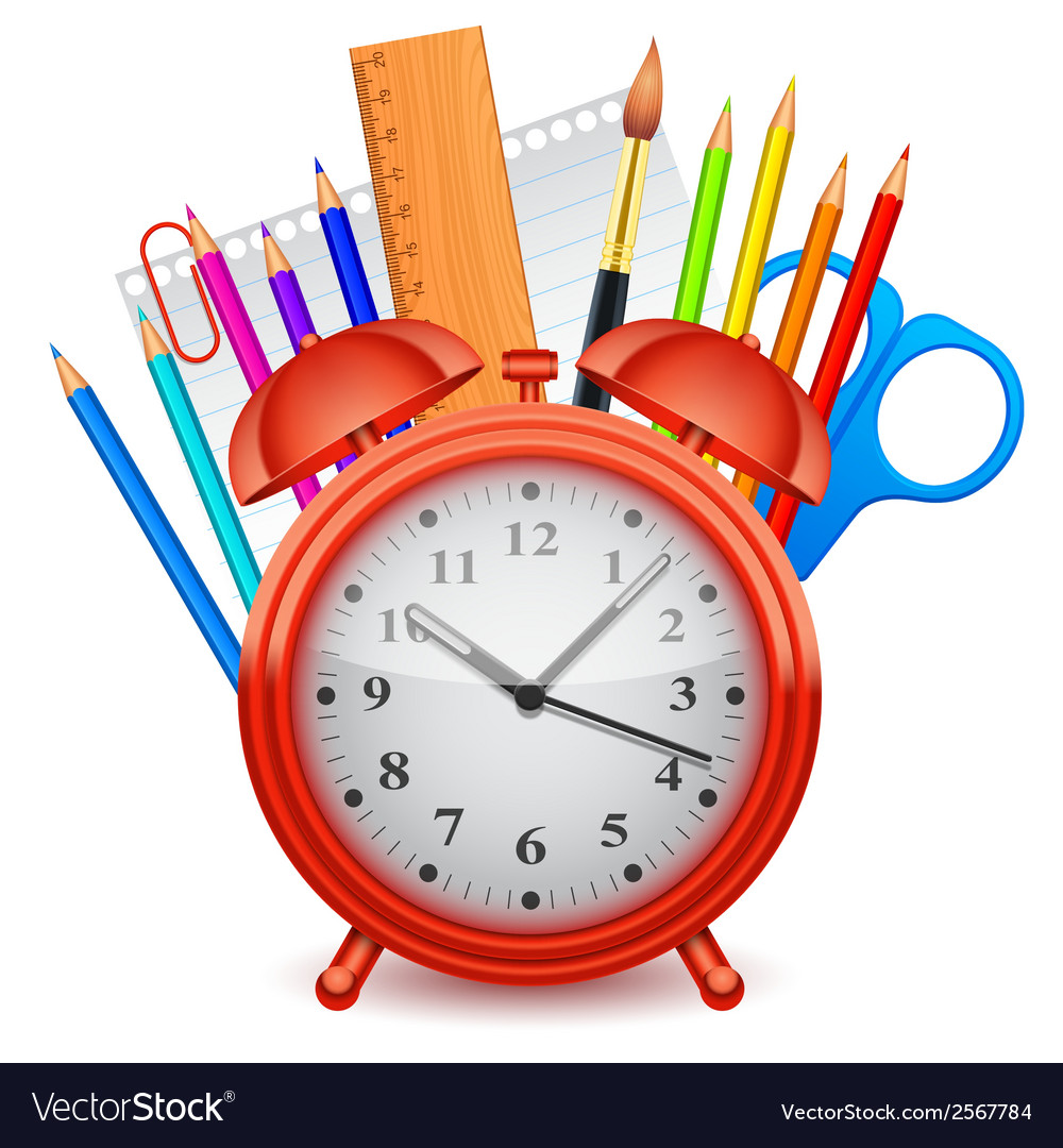 Time to school concept vector | Price: 1 Credit (USD $1)
