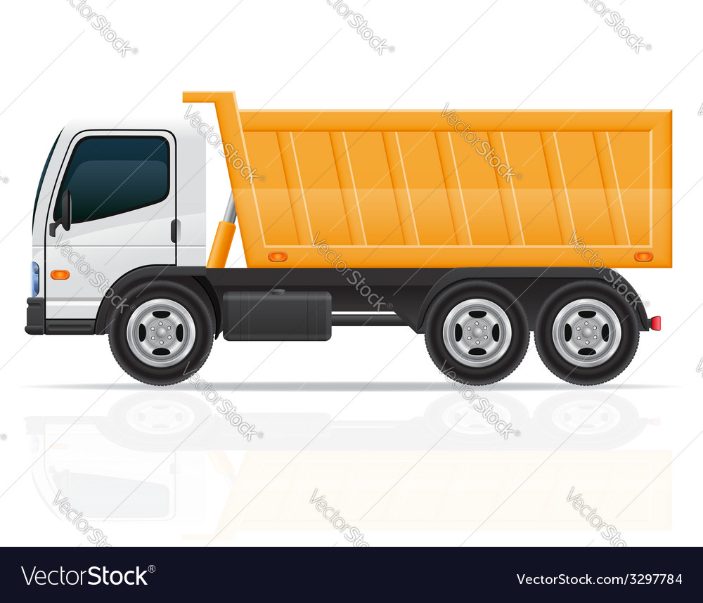 Tipper truck vector | Price: 3 Credit (USD $3)