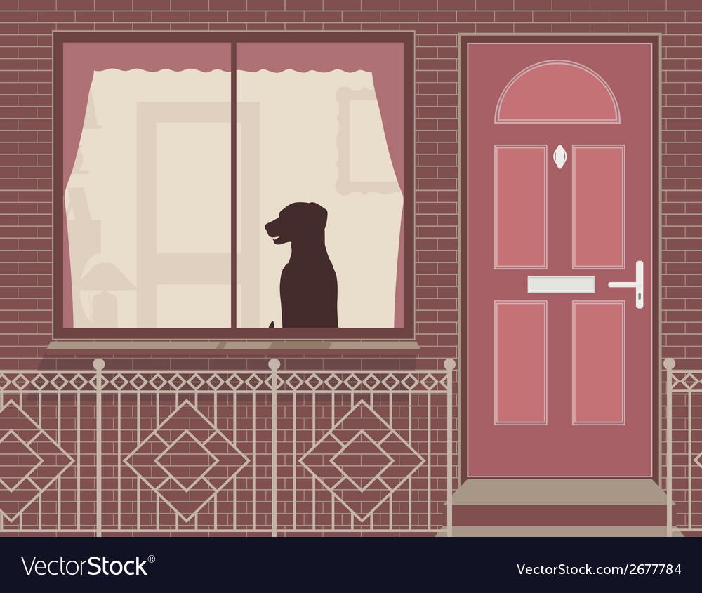 Window dog vector | Price: 1 Credit (USD $1)