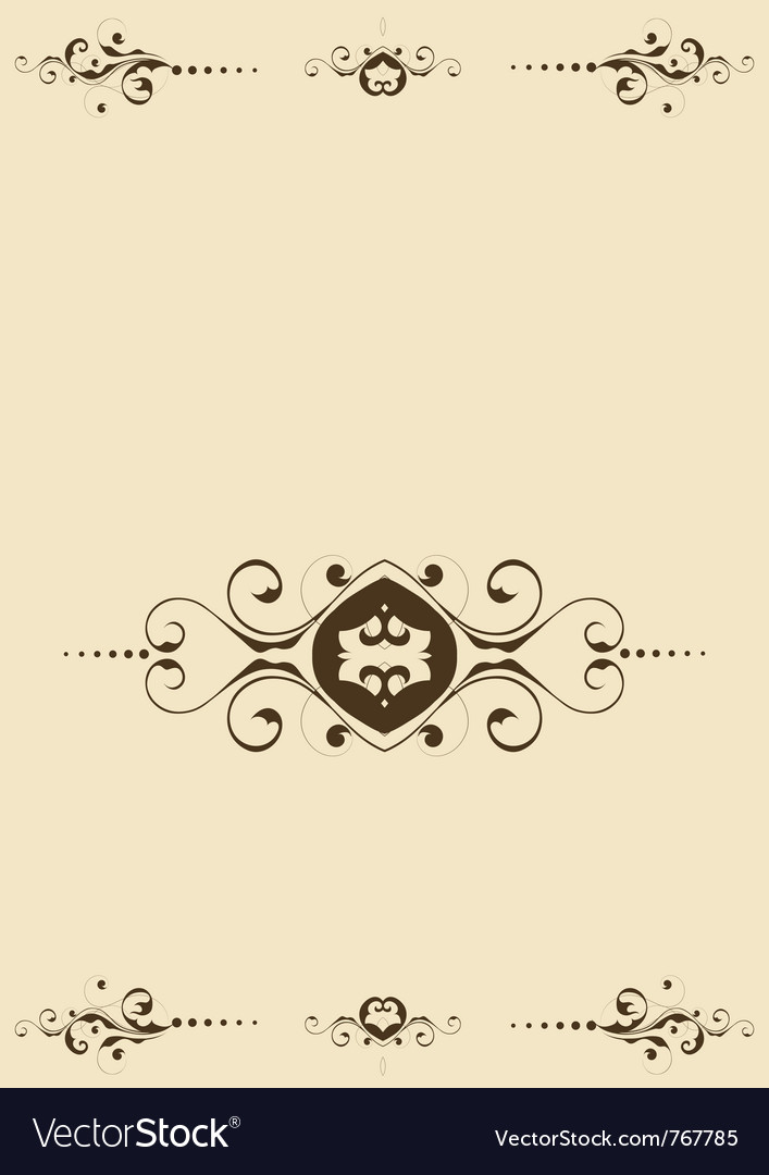 Background with flourishes vector | Price: 1 Credit (USD $1)
