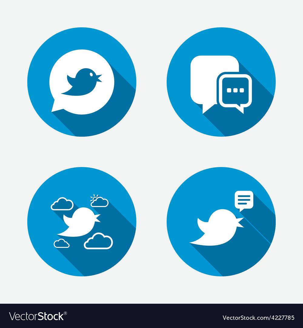 Birds icons social media speech bubble vector   Price: 1 Credit (USD $1)