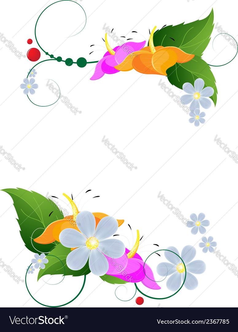 Bright flower arrangement vector | Price: 1 Credit (USD $1)