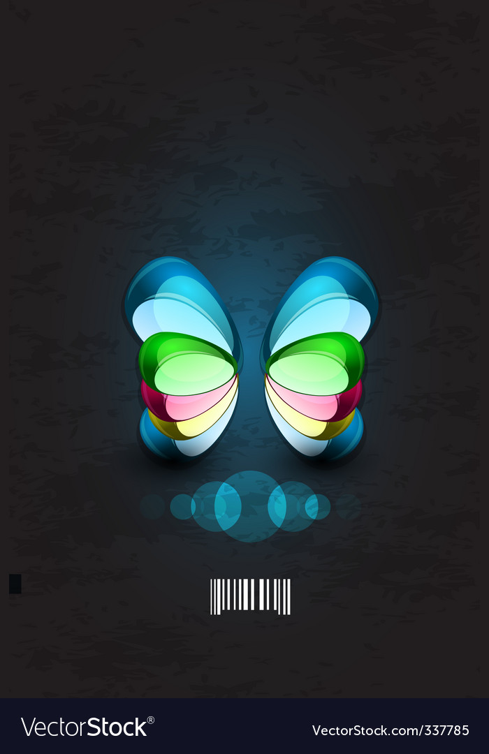 Dimensional butterflies vector | Price: 1 Credit (USD $1)
