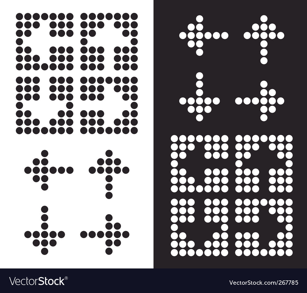 Dot arrow icon vector | Price: 1 Credit (USD $1)