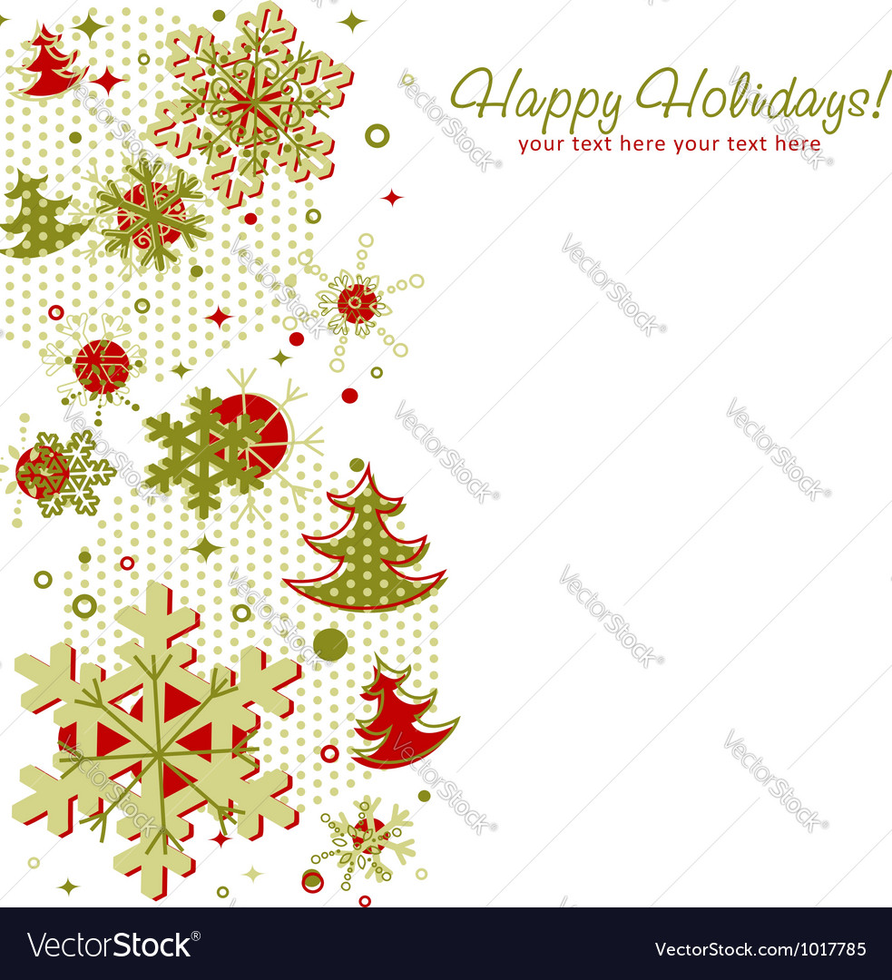 Ornate christmas card with snowflakes vector | Price: 1 Credit (USD $1)